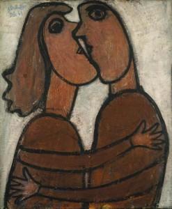 11. Dubuffet, Jean - The Little Kiss, 1943
